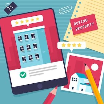 Wyszukiwanie nieruchomości za pomocą tabletu