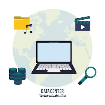 Wyszukiwanie plików wideo w laptopie centrum danych