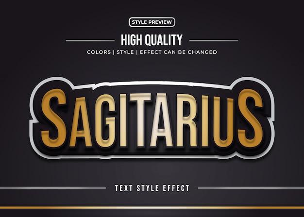 Wytłoczone efekty stylu tekstu w kolorze złotym i czarnym dla naklejek drużynowych lub tożsamości