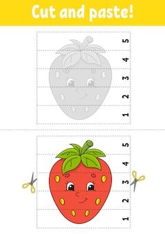 Wytnij i przyklej arkusz truskawkowy