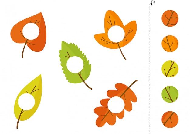 Wytnij i sklej części jesiennych liści.