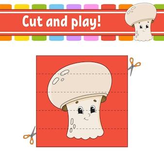 Wytnij i zagraj w grę dla dzieci