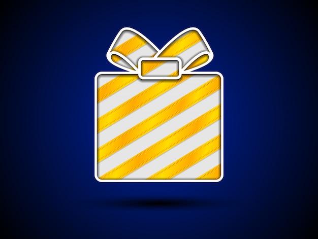 Wytnij pudełko ze złotymi wstążkami
