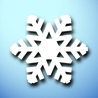 Wytnij świąteczny płatek śniegu