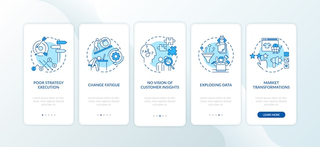 Wyzwania biznesowe: wprowadzenie ekranu strony aplikacji mobilnej z koncepcjami.