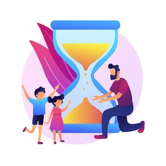 Wyzwania dla rozwiedzionych ojców streszczenie ilustracja koncepcja. ojciec bez opieki, orzeczenie sądu, zakwestionowanie opieki, dziecko w depresji, złe relacje, kłótnia rodzinna