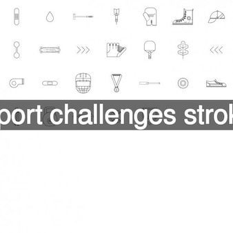 Wyzwania uderzenie ikony sportu