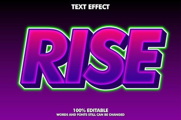 Wznieś fioletowy i zielony efekt tekstowy