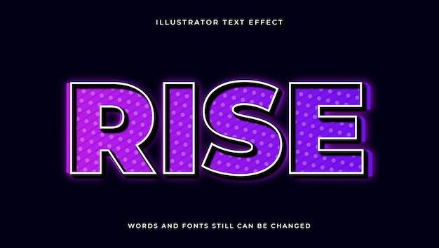 Wznieś kolorowy nowoczesny edytowalny tekst z efektem świetlnym. elegancki styl tekstu