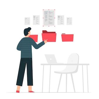 Wznów ilustracja koncepcja folderu