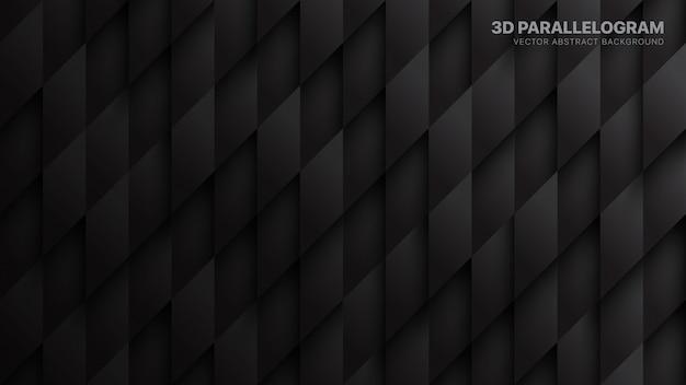 Wzór 3d równoległoboków technologiczne ciemne tło