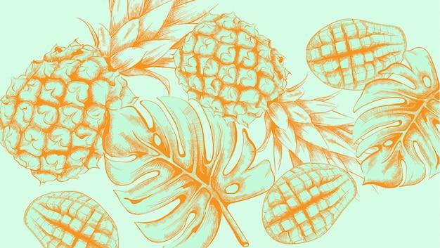 Wzór ananasa zwrotnik lato