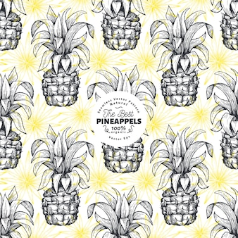 Wzór ananasa.
