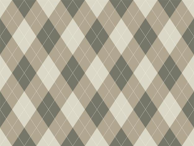 Wzór argyle bez szwu. tekstura tkanina tło. klasyczny ornament argill