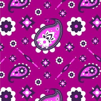 Wzór bandany paisley w żywym fioletowym kolorze
