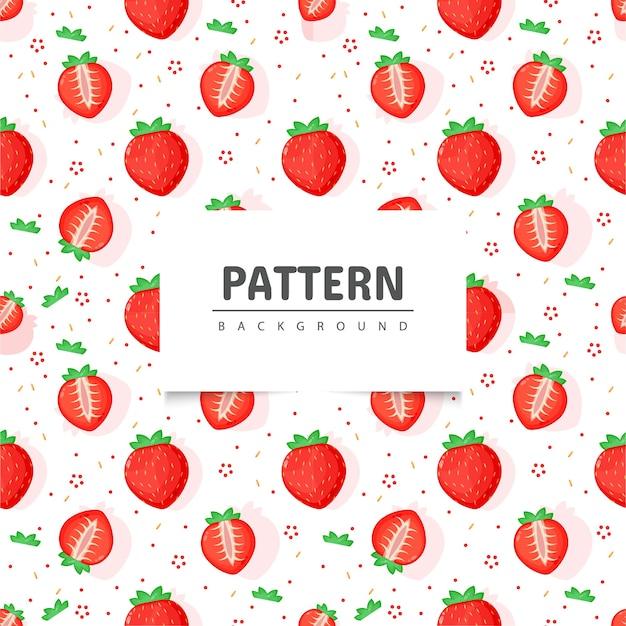 Wzór bezszwowe owoce truskawki