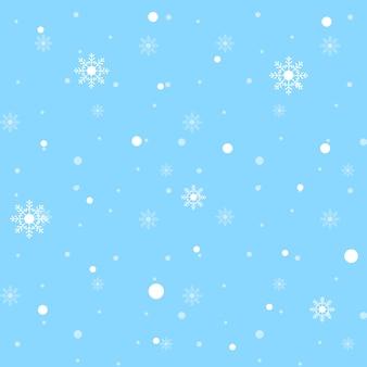 Wzór białe płatki śniegu