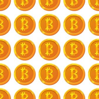 Wzór bitcoin do projektowania gier, biznesu, projektowania stron internetowych