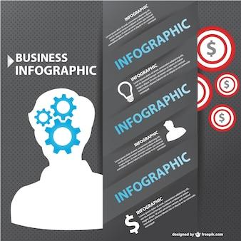 Wzór biznes infograhic darmo