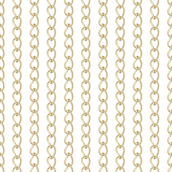 Wzór biżuterii złoty łańcuch.