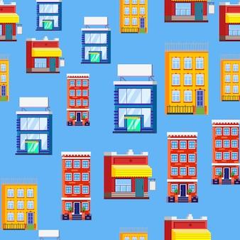 Wzór budynków domów