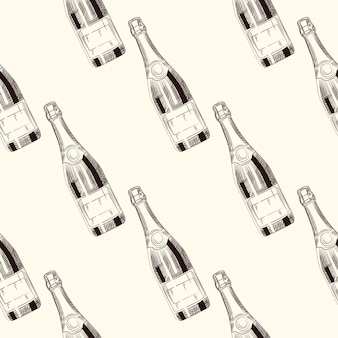 Wzór butelek szampana
