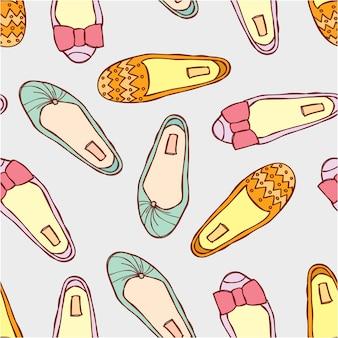 Wzór butów płaskich