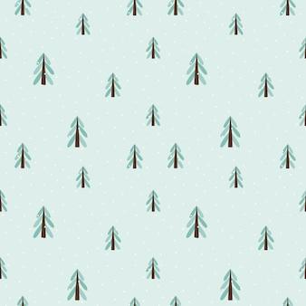 Wzór choinki. styl skandynawski. święta nowego roku. stylizowane drzewo do druku, papieru cyfrowego, projektowania, tkaniny, wystroju, opakowania na prezent. wszechstronny design. ilustracja wektorowa, doodle