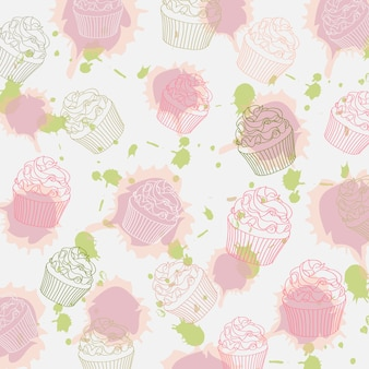Wzór cupcakes