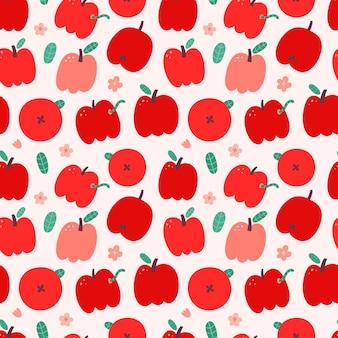 Wzór czerwonych jabłek