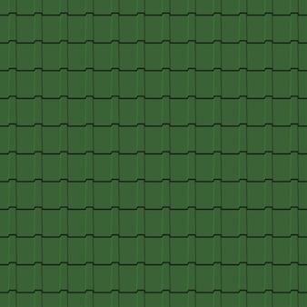 Wzór dachówki. zielone tło profili gontów. ilustracja wektorowa.