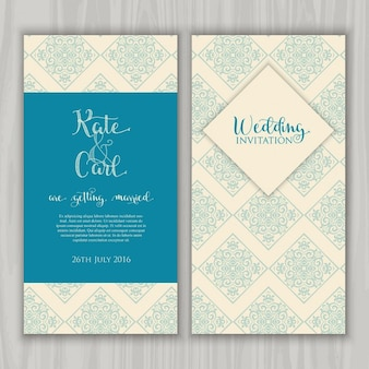 Wzór dekoracyjny idealny dla zaproszenie na ślub