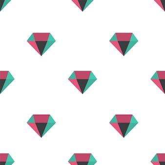 Wzór diamentu, bezszwowe tło wektor. dekoracyjna ilustracja, dobra do druku. kolorowe tapety wektor w nowoczesnych kolorach. doskonały do etykiet, nadruków, opakowań, tkanin.