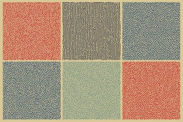 Wzór dyfuzji. niekończąca się tapeta z organiczną linią sztuki. turing generative design.