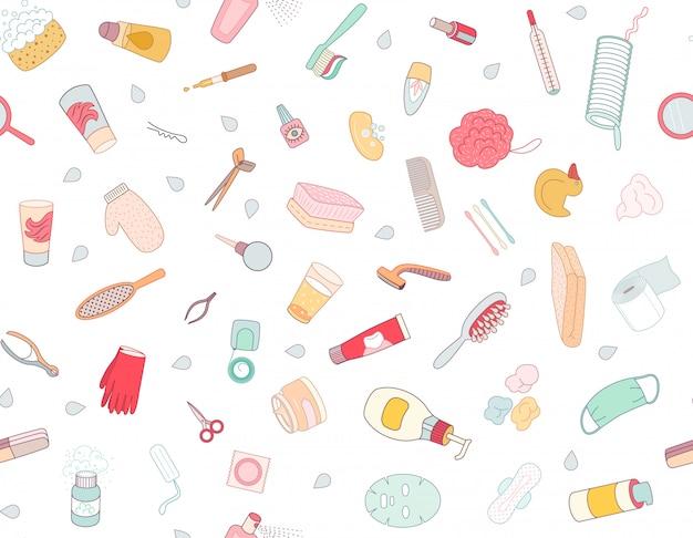 Wzór elementów higieny