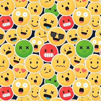 Wzór emotikonów inny uśmiech