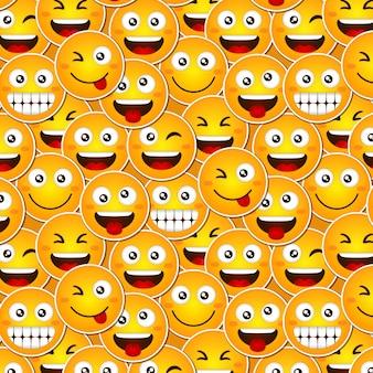 Wzór emotikony zabawny uśmiech
