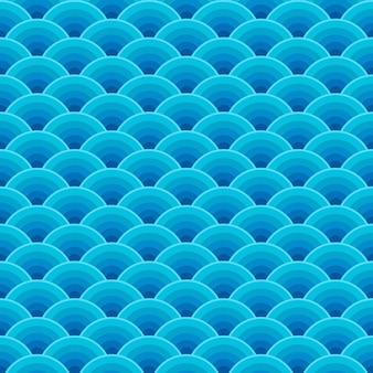 Wzór fal bez szwu niebieski ocean