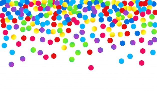 Wzór festiwalu żółty konfetti