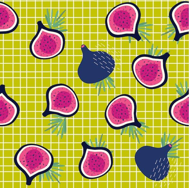 Wzór fig na tle płytki