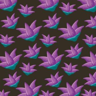 Wzór fioletowe kwiaty