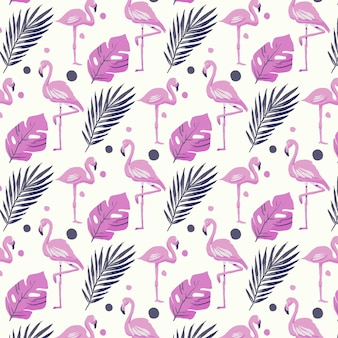 Wzór flamingo