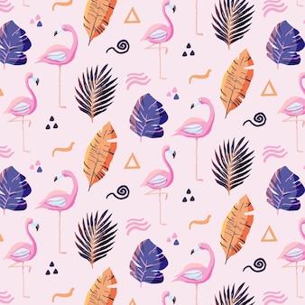 Wzór Flamingo Premium Wektorów