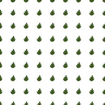 Wzór geometryczny zielony dąb na białym tle. tło wzór liści.
