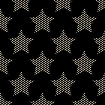 Wzór gwiazdek, streszczenie tło geometryczne. kreatywna i luksusowa ilustracja w stylu