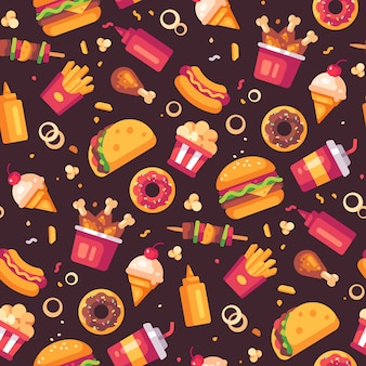 Wzór ikony fast food