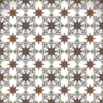 Wzór indyjski kwiatowy paisley medalion