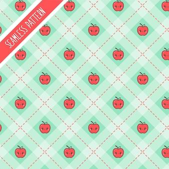 Wzór jabłek cute