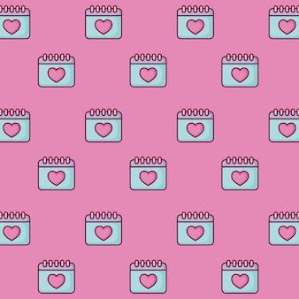 Wzór kalendarzy miłosnych