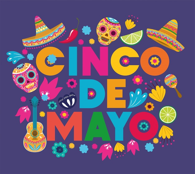 Wzór karty cinco de mayo